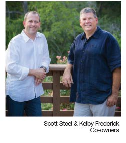 Co-owners Scott Steel & Kelby Frederick